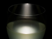 Wine glass detail, lit. Abstract effect. Stock Images
