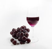 Wine. And a glass of wine and fermented grape juice made from grapes Stock Photo
