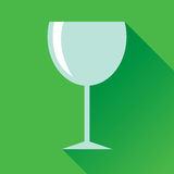 Wine Glass Flat Icon Stock Photos