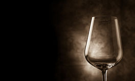 Wine Glass in front of rural background Stock Image