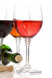 Wine in glass fruit on white Stock Photo
