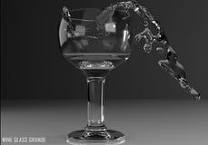 Wine glass grande 3D illustration Royalty Free Stock Photography