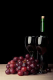 Wine glass with grape Royalty Free Stock Photography