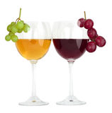 Wine in glass with grapes Royalty Free Stock Photography