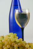 Wine, glass and grapes Royalty Free Stock Images