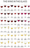THE WINE IN THE GLASS Royalty Free Stock Image