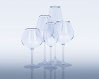 Wine glass. A group of wine glass Stock Photo