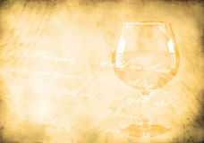 Wine glass on a grunge background Stock Images