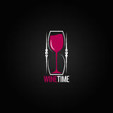 Wine glass hourglass concept design background Stock Photo