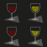 Wine glass icon Stock Photography