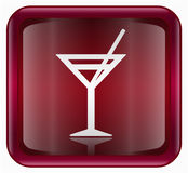 Wine-glass icon red Stock Photo