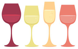 Wine glass icons Stock Image
