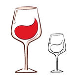 Wine glass illustration Stock Images