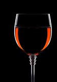 Wine in glass isolated on black Royalty Free Stock Photo