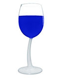 Wine in a glass isolated - Blue Royalty Free Stock Photos