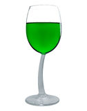 Wine in a glass isolated - Green Royalty Free Stock Photo