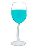 Wine in a glass isolated - Light Blue Stock Photography