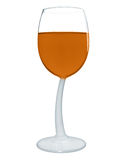 Wine in a glass isolated - Orange Stock Photography