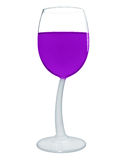 Wine in a glass isolated - Violet Stock Photography