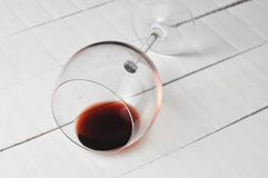 Wine glass isolated on white background..Copy space. Alcohol drink object beverage wineglass liquid red goblet party taste bar winery closeup transparent one stock photo