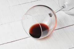 Wine glass isolated on white background..Copy space. Alcohol drink object beverage wineglass liquid red goblet party taste bar winery closeup transparent one stock image