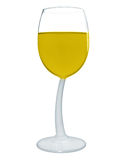 Wine in a glass isolated - Yellow Royalty Free Stock Images