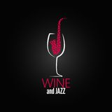 Wine glass jazz design concept background Stock Photography