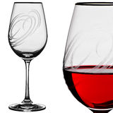 Wine glass. With liquid isolated on white background Stock Photo