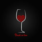 Wine glass love concept design background Stock Photos