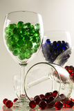 Wine Glass Marbles Royalty Free Stock Image