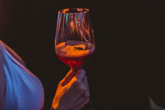 Wine. A glass of wine for nightlife partyrn Royalty Free Stock Photo