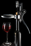 Wine glass and opener Royalty Free Stock Photography