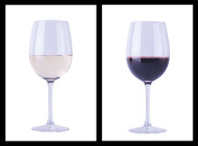 Wine glass over white Royalty Free Stock Photography