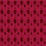 Wine glass pattern Stock Photography