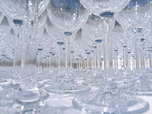Wine-glass patterns. Before the guests arrive Stock Image