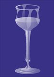 Wine glass. Picture wine glass on a blue background Vector Illustration