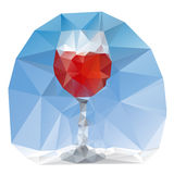 Wine glass polygonal Royalty Free Stock Image