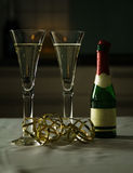Wine Glass and Prosecco. For Jubilation Royalty Free Stock Image