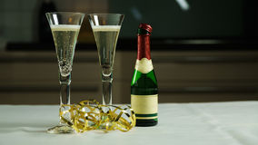 Wine Glass and Prosecco Royalty Free Stock Images