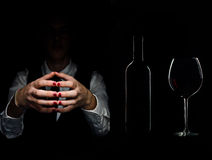Elegant man with red wine Royalty Free Stock Photo
