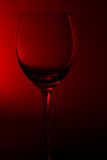 Wine glass on red Stock Photo