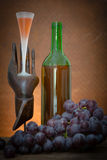 Wine glass and red grape Royalty Free Stock Image