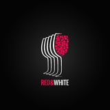 Wine glass red and white backgraund Stock Images