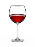 Wine glass with red wine. Isolated on white Stock Images