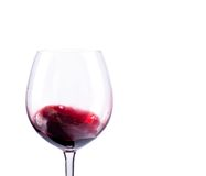Wine glass with red wine. Isolated over white background Royalty Free Stock Photos