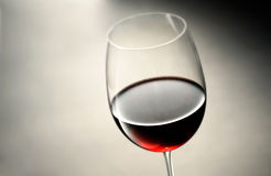 Wine glass with red wine Royalty Free Stock Photography