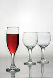 Wine glass of red wine. Royalty Free Stock Photos