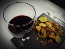 Wine glass redwine glasswine drink lunch dinner romantic. Food delicious elegant eat table beverage Stock Image