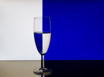 Wine Glass Refraction Pattern Royalty Free Stock Images