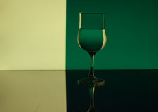 Wine Glass Refraction Pattern Royalty Free Stock Photography